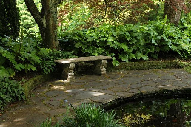 giardino, segreto, vintage