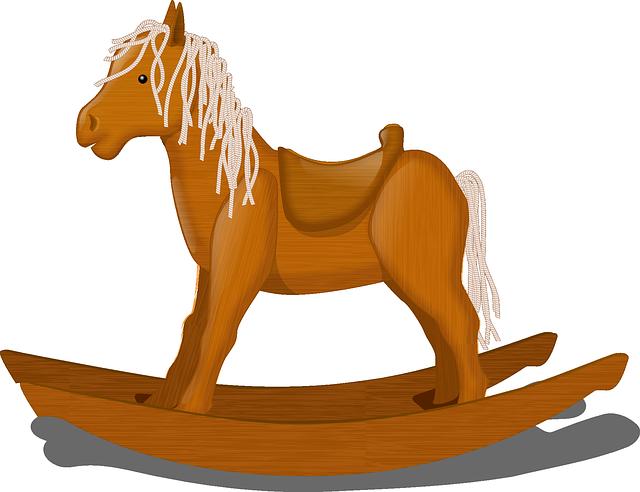 cavallo a dondolo, bilanciere, bambini