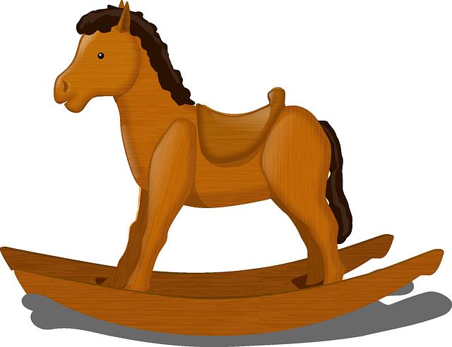 cavallo a dondolo, giocattolo del bambino, cavallo