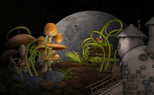 cottage, piante, funghi