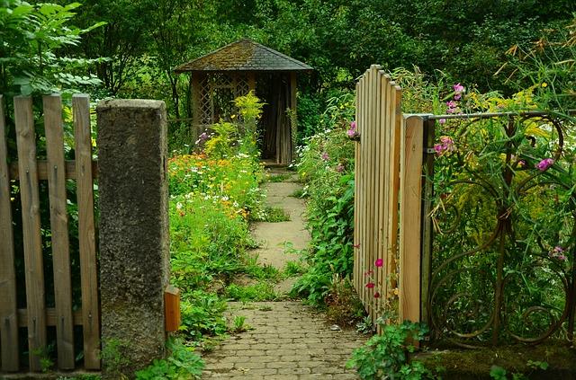 giardino, giardino porta, garden cottage