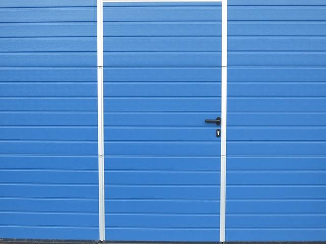 porta, foglio, blu