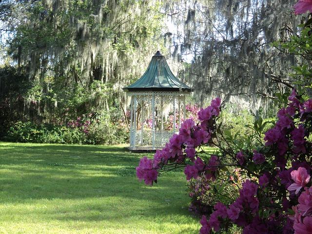 gazebo prato padiglione giardinaggio scenico giardino estate cantiere tranquillo sereno ornamentali decorativi fiori arbusti alberi fogliame erba paesaggistico relax gazebo gazebo gazebo gazebo gazebo